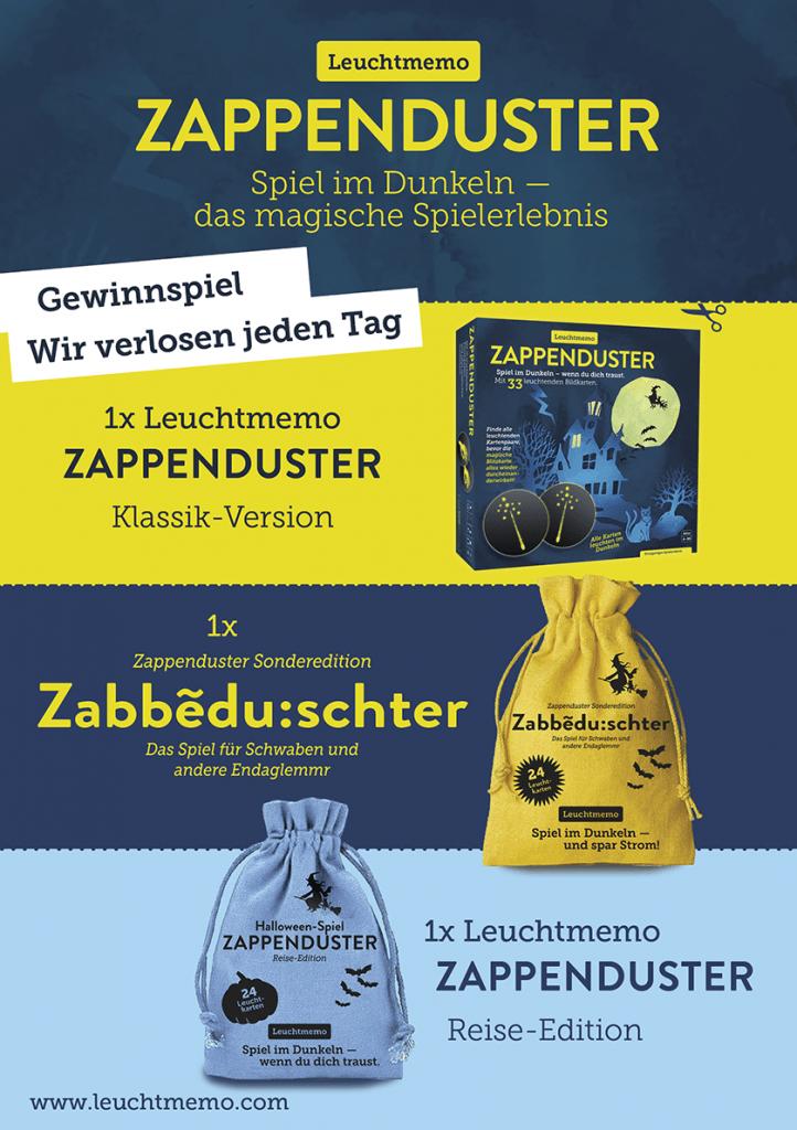 Halloween-Party, Alexander Kranz-Mars, Spieleautor, Zappenduster-Leuchtmemo-Zauberer-kinderspiel-kindergeschenk-familienspiel