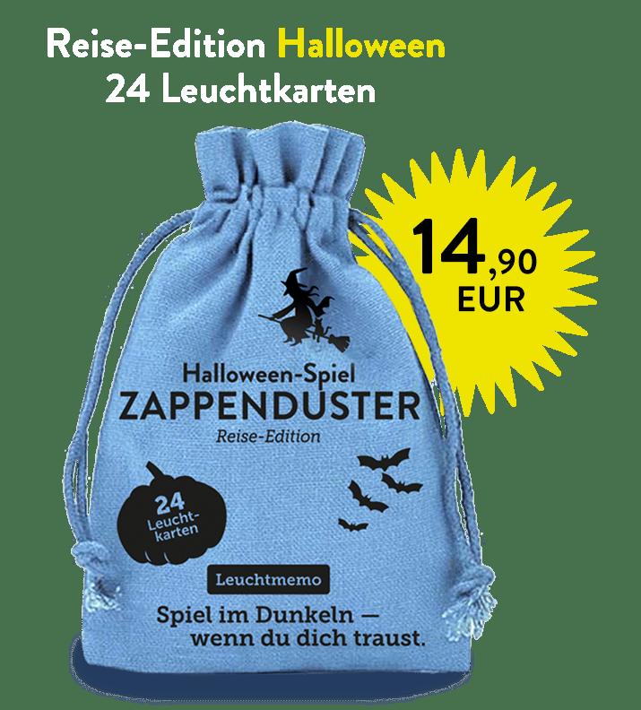 Zappenduster Halloween Memory Leuchtmemo Hexe Zauberer Kinderspiel Halloween Gruselspiel