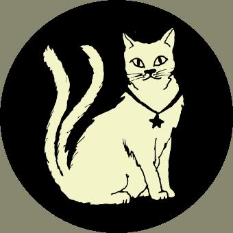 Zappenduster Kartenmotive doppelschwänziger Kater Katze