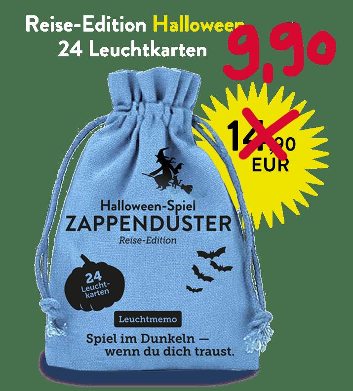 Halloween-Party, Alexander Kranz-Mars, Spieleautor, Zappenduster-Leuchtmemo-Zauberer-kinderspiel-kindergeschenk-familienspiel kaufen Reiseedition